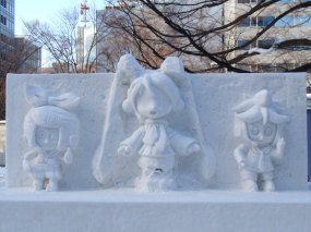 Snow carvings of vocaloids!