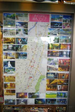 Pilgrimage map for those determined Ano Hana fans who want to find Menma!