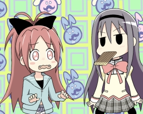 Never offer Homura food when she has those eyes!
