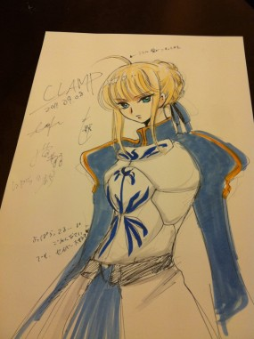 Saber drawn by Clamp!